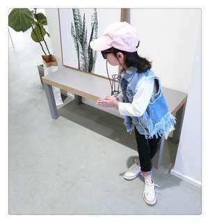 Baby princess cherry rocker denim jacket