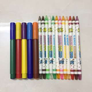 #Bajet20 Markers and twistable colour pencil