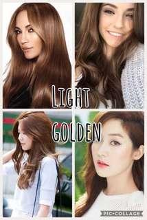 Light golden brown hair dye