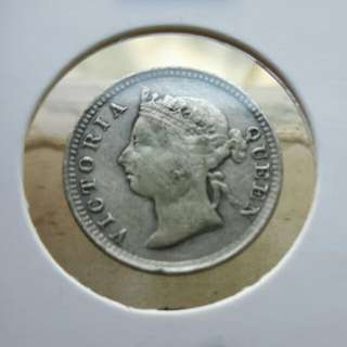 Queen Victoria on 1892 vintage coin