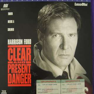 Laser Disc Movie - M29   Clear And Present Danger
