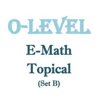 2017 O Level EMath Topical Revision Package Set B / Sec 3 / Sec 4 / exam paper / prelim papers available too / test paper/ Junyuan Secondary School