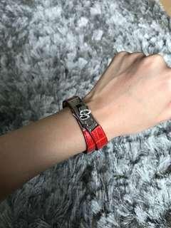 Hermes Croc Kelly Doubletour Bracelet