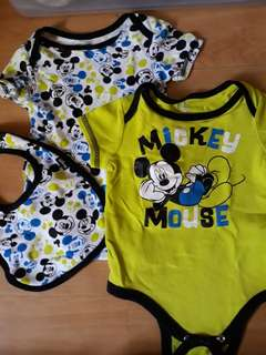 mickey mouse 0-3 months onesie