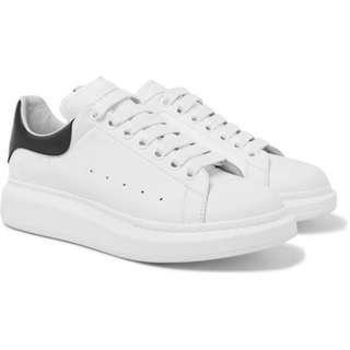 ALEXANDER MCQUEEN Leather Sneakers 黑色