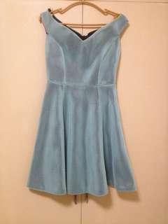 Offshoulder Mint Green Dress