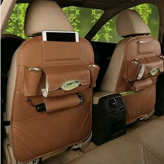 Leather Premium Auto Car Organizer Tas Jok Kulit Mobil (1pcs)