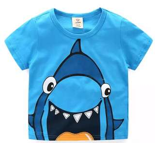 New 100% Cotton Colourful Cute Cartoon T-Shirt