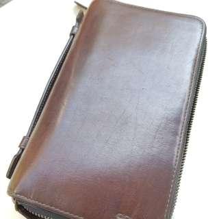 COACH Men Double Zip Travel Wallet