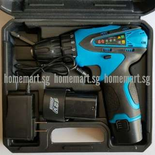 New 12Volts 1.5Ah Double Speed Cordless Driver Drill [ Blue & Red Colour Available ]