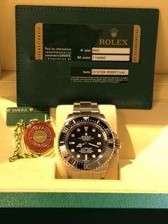 Rolex-116660-DEEPSEA-SEA-DWELLER-V頭-小丑皇冠-FULL SET  !