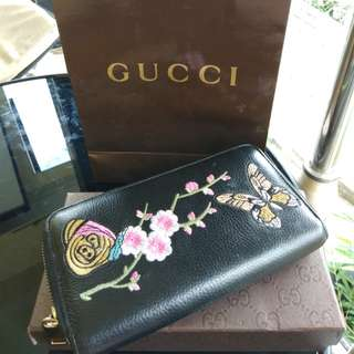 gucci wallet ori leather preloved