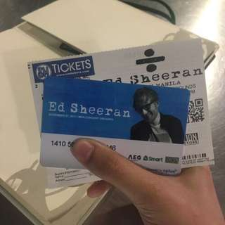 Ed Sheeran Gold Ticket