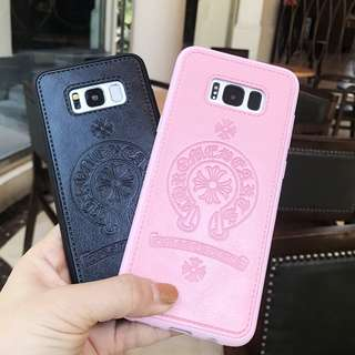 Leather Silicon Case for Samsung S7 - S8 Plus