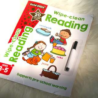 Wipe clean reading ages 3-5