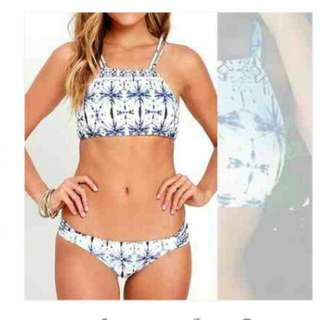 BLUE Tie Design 2PIECE Swimsuit