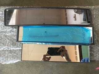 car center rear extended mirror