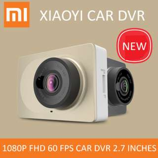 Xiaomi Yi Dashboard 1080P FHD 30/60fps Car WiFi DVR 2.7 inches Screen ADAS Camera