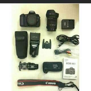 Canon 60D單眼相機~整組售送Canon腳架(整組/可拆售)