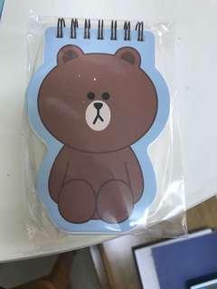 正版 line friends 熊大 便條紙 memo紙