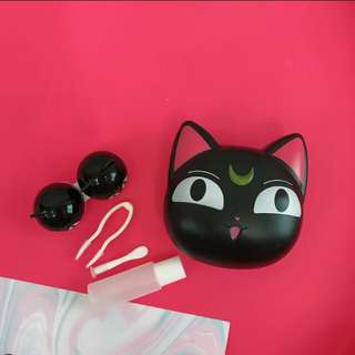 PO cat contact lenses case