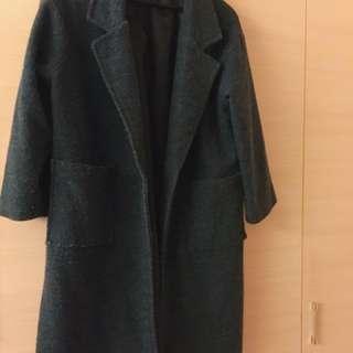 墨綠大衣 二手便宜賣