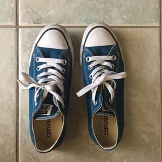 Converse blue sneakers