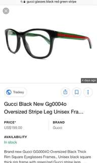 Gucci eyewear glasses authentic