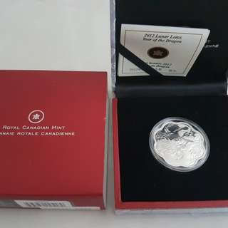 royal canadian mint 2012 silver dragon coin