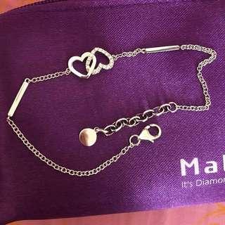 全新Mabelle 新款💖心形款💎鑽石手鏈😍