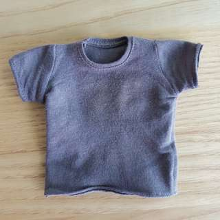1/6 Scale Grey t shirt for muscular bodies