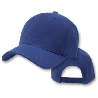 Navy Blue Plain Hats Caps Adjustable