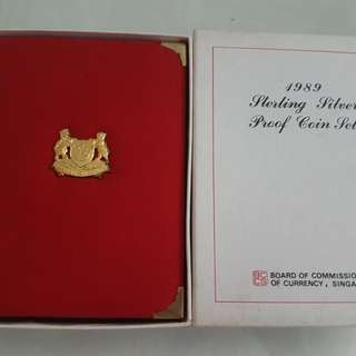 1989 sterling silver proof coin set