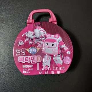 現貨實拍 韓國波力鐵盒裝維他命糖(18顆/盒)