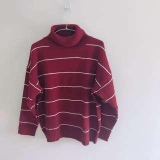 條紋寬鬆毛衣