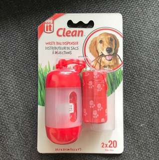 BNIP DogIt Waste Bag Dispenser 2 Rolls (Red)