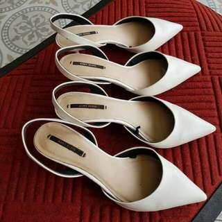 Zara White Shoes Take All
