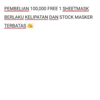 FREE MASK setiap 100k
