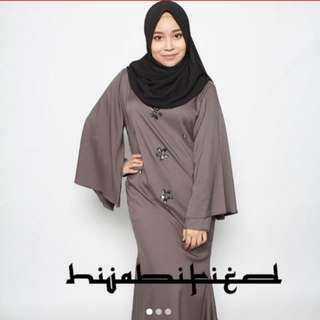 Camilla cape dress-smokey grey