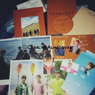 Seventeen Teen, Age Orange version album and CD case (with sticker)