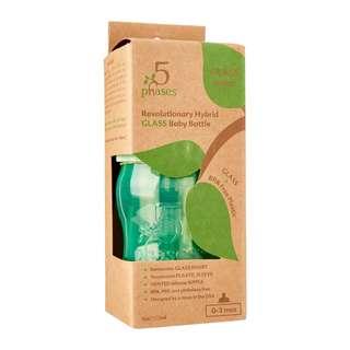 5 Phases hybrid glass baby bottle - 4oz/120ml
