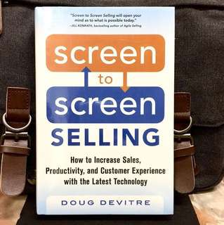 # Highly Recommended《Bran-New + Hardcover Edition + One Of The Most Powerful Tools You Will Ever Use》Doug Devitre - SCREEN TO SCREEN SELLING : How to Increase Sales, Productivity, and Customer Experience with the Latest Technology