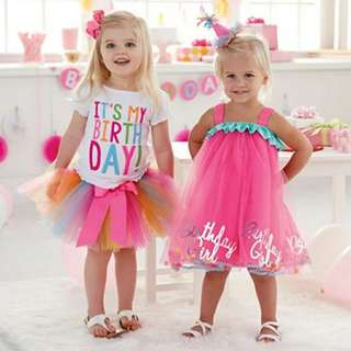 Little Princess Birthday Suit Top and Skirt Set