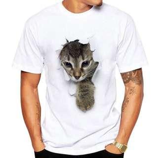 3D 貓咪 短袖T恤 Tee