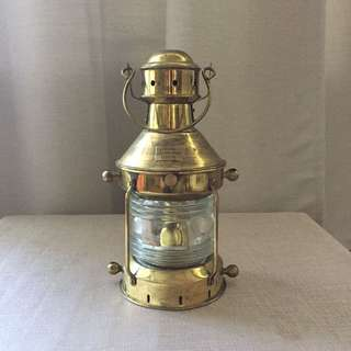 Antique Brass Ship's Light