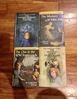 Lot of 4 Vintage (40-50+ old) Hardbound Nancy Drew Books