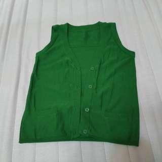 🚚 綠色針織背心 #五十元好物