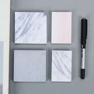 INSTOCK Marble post it (top left btm right)