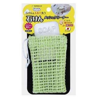 日本製~肥皂網袋 附吸盤