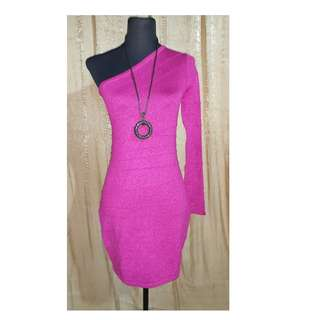 Glittery Fucshia Bodycon Dress